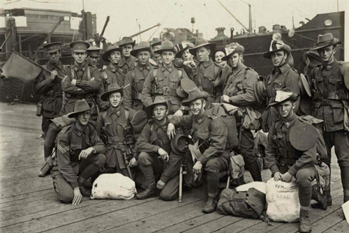 soldiers on dock
